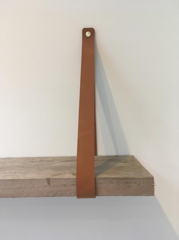 Goede Leren Plankdragers Set L (alle kleuren maatwerk) - Leren UJ-07
